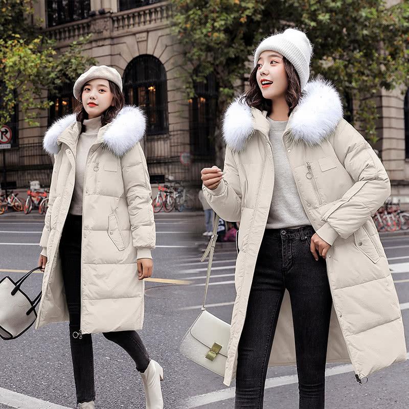 寒冷的冬季棉服这样搭配针织衫 既保暖又时尚-幽兰花香