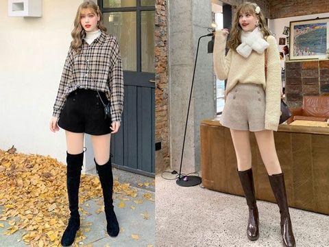 冬季里穿上时髦的毛呢短裤,妥妥的大长腿-幽兰花香