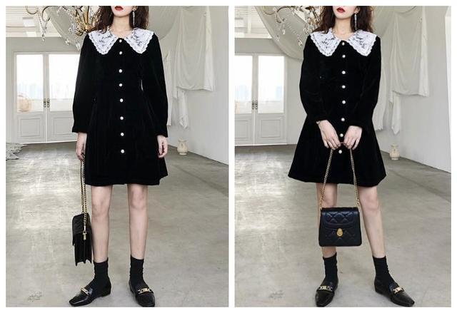 小个子女生多穿这些黑色连衣裙 想不美都难!-幽兰花香