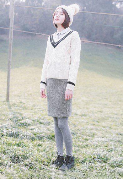 日韩风 其他风格无法企及的甜美搭配-幽兰花香
