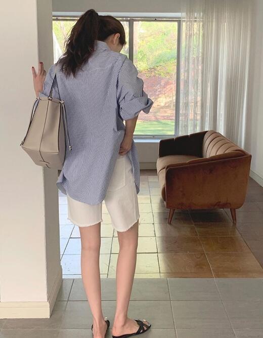 """牛仔短裤怎么穿搭才显瘦?盘点""""五大身型""""牛仔短裤穿搭技巧-幽兰花香"""
