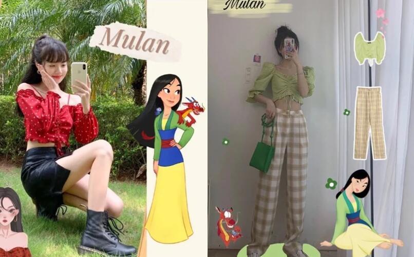 """小红书热门话题""""迪士尼公主穿搭""""!化身白雪公主、爱莎不是梦!-幽兰花香"""