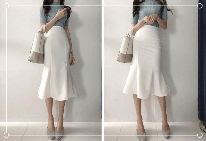 白色半身裙配什么颜色上衣好看?配第三第四种颜色太高级了!-幽兰花香